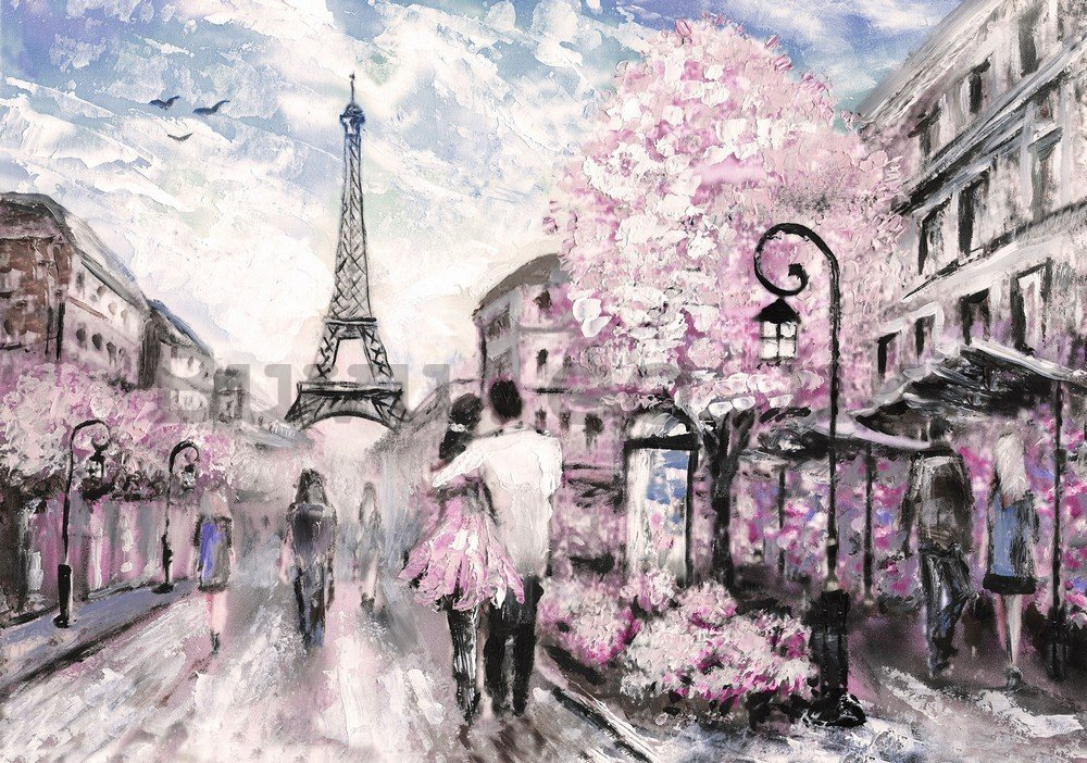 Wall mural: Paris (painted) - 104x152,5 cm