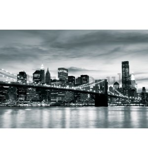 Wall mural: Black & White Brooklyn Bridge - 104x152,5 cm