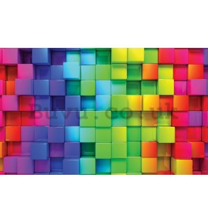 Wall mural: Pastel cubes - 104x152,5 cm