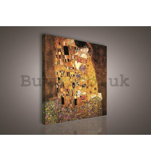 Painting on canvas: The Kiss, Gustav Klimt - 75x100 cm