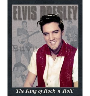 Metal sign - Elvis Presley (The King of Rock 'n' Roll)