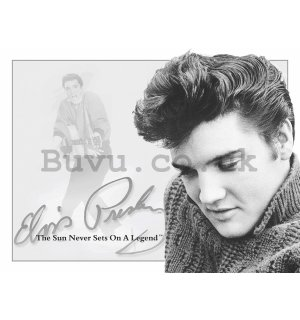 Metal sign - Elvis Presley (The Sun Never Sets on a Legend)