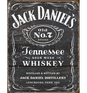 Metal sign - Jack Daniels (Brown)