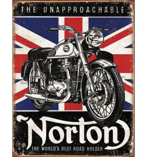 Metal sign - Norton (Best Roadholder)