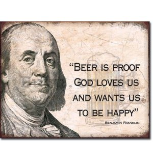 Metal sign - Ben Franklin (Beer)