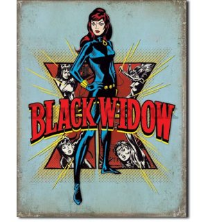 Metal sign - Black Widow (Retro)