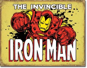 Metal sign - The Invincible Iron Man (2)
