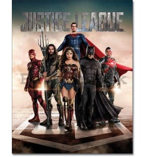 Metal sign - Justice League (Movie)