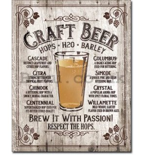Metal sign - Craft Beer