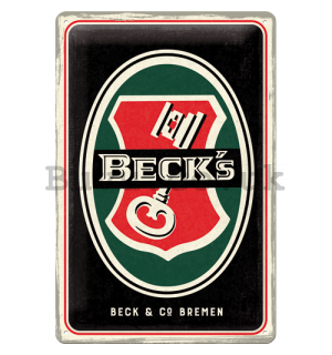 Metal sign: Beck's (Key Logo) - 30x20 cm