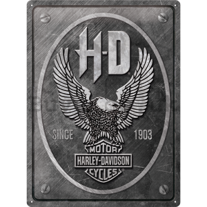Metal sign: Harley-Davidson (Metal Eagle) - 40x30 cm