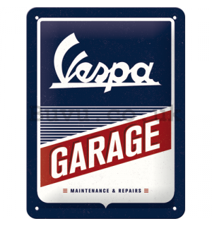 Metal sign: Vespa Garage - 20x15 cm
