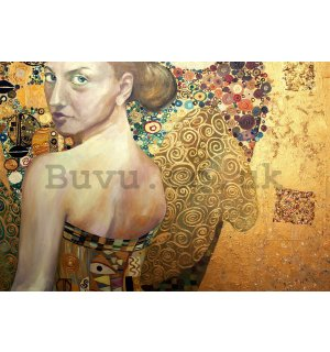 Wall mural vlies: Beauty (oil painting) - 104x152,5 cm