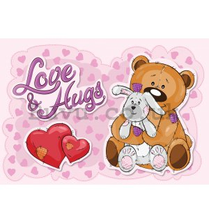 Wall mural vlies: Love & Hugs - 104x152,5 cm
