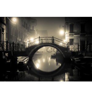 Wall mural vlies: Venice (night) - 254x368 cm