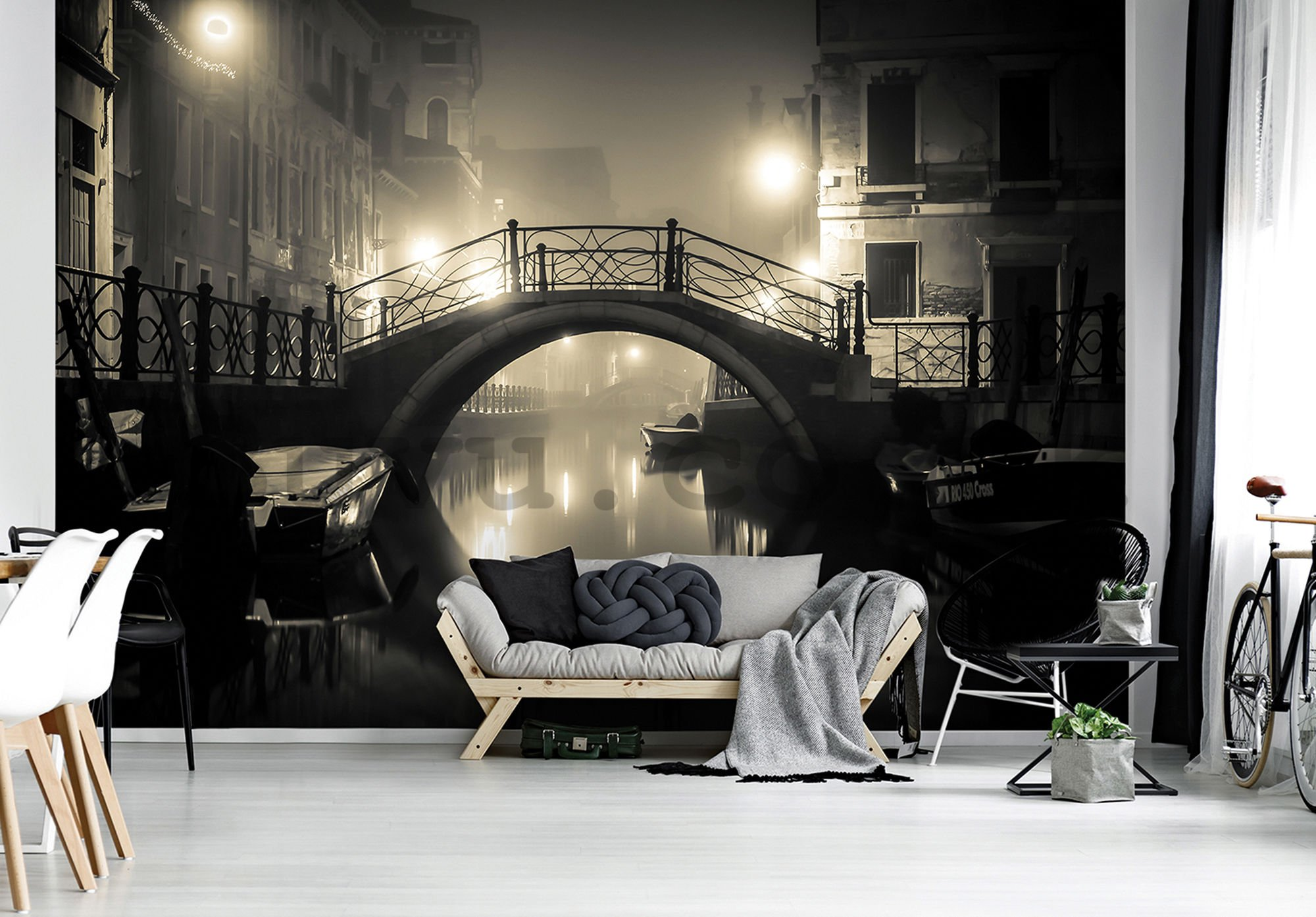 Wall mural vlies: Venice (night) - 104x152,5 cm