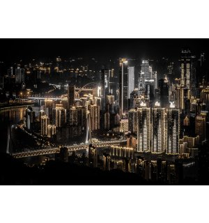 Wall mural vlies: Night city (5) - 184x254 cm