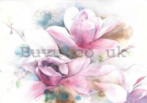 Wall mural: Magnolia (painted) - 184x254 cm