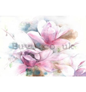 Wall mural: Magnolia (painted) - 254x368 cm