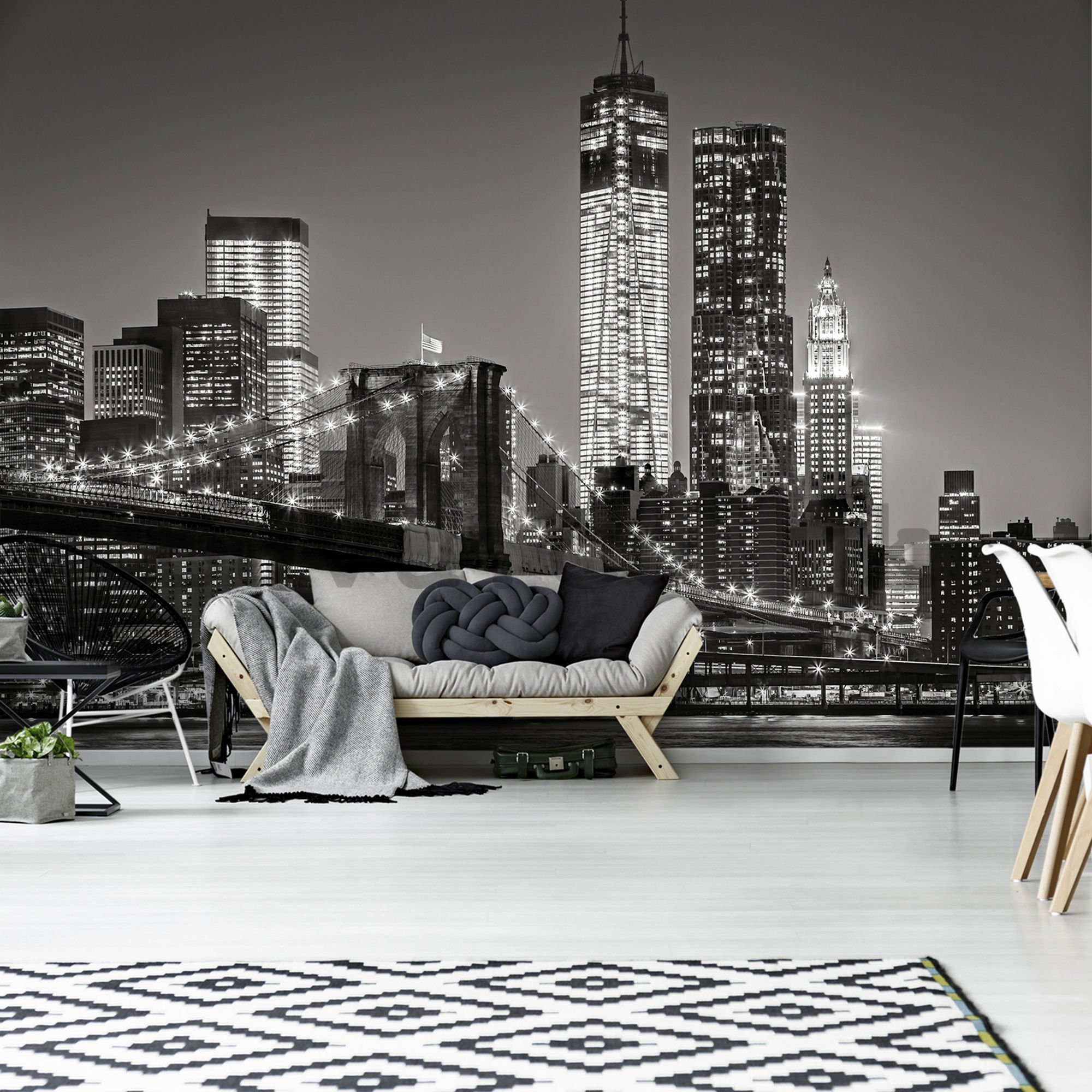 Wall mural: Brooklyn Bridge (4) - 184x254 cm