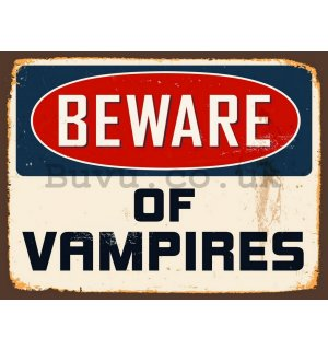 Retro plate - Beware of Vampires