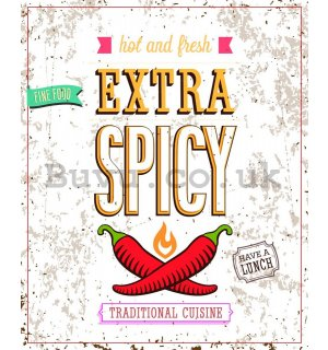 Retro plate - Extra Spicy (White)