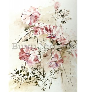 Wall Mural: Flower painting (1) - 254x184 cm