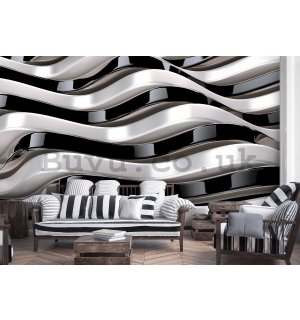 Wall mural vlies: Wavy abstraction - 184x254 cm