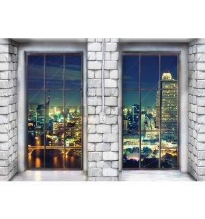 Wall mural: Window to city (1) - 254x368 cm