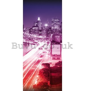 Wall Mural: City lights (3) - 211x91 cm