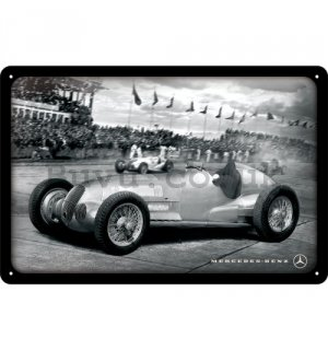 Metal sign: Mercedes-Benz Silver Arrow Racing - 20x30 cm