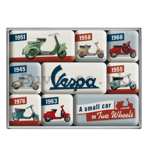 Set of magnets - Vespa (A Small Car on Two Wheels)