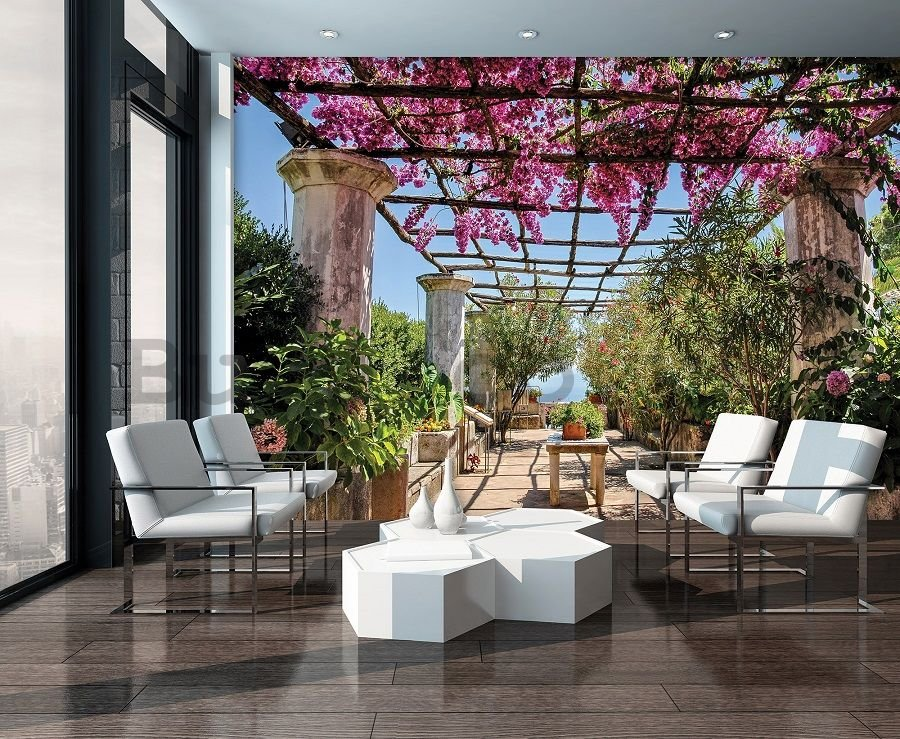 Vlies wall mural : Pergola with flowers - 184x254 cm