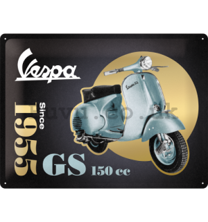 Metal sign: Vespa GS 150 Since 1955 (Special Black Edition) - 30x40 cm