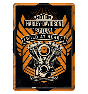 Metal postcard - Harley-Davidson Wild at Heart