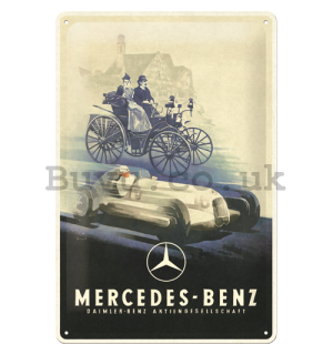 Metal sign: Mercedes-Benz (Silver Arrow Historic) - 30x20 cm