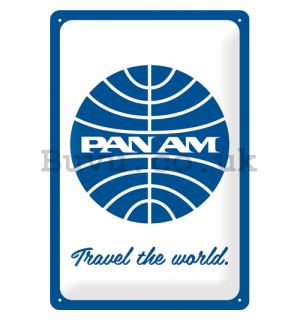 Metal sign: Pan Am (Travel the world) - 30x20 cm
