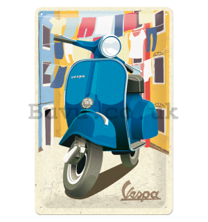 Metal sign: Vespa (Italian Laundry) - 30x20 cm