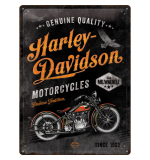 Metal sign: Harley-Davidson  (Timeless Tradition) - 40x30 cm