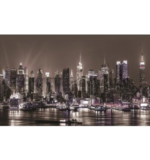 Wall mural vlies: New York at night - 416x254 cm