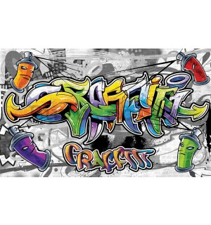 Wall mural vlies: Colour graffiti - 416x254 cm