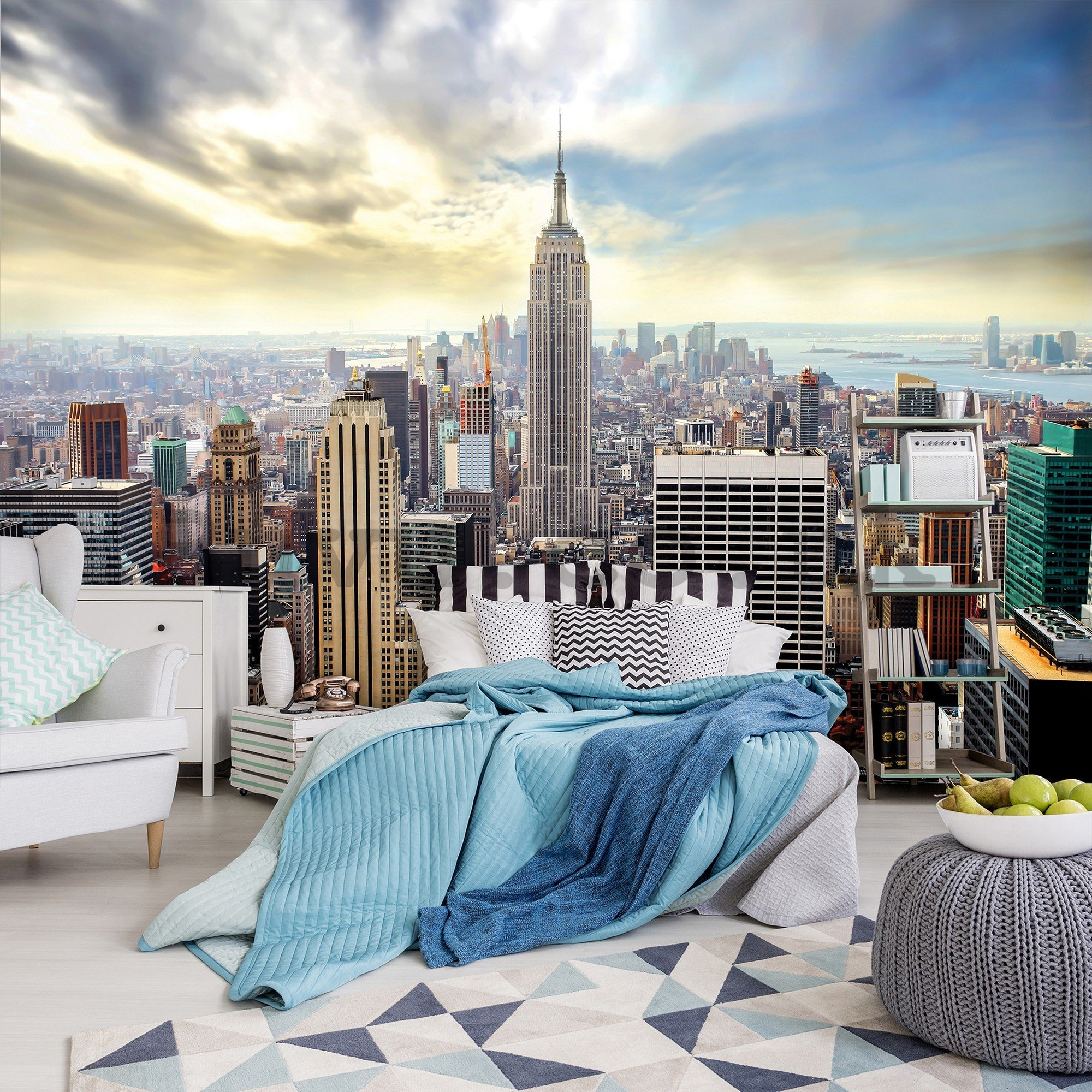 Wall mural vlies: View on New York - 416x254 cm