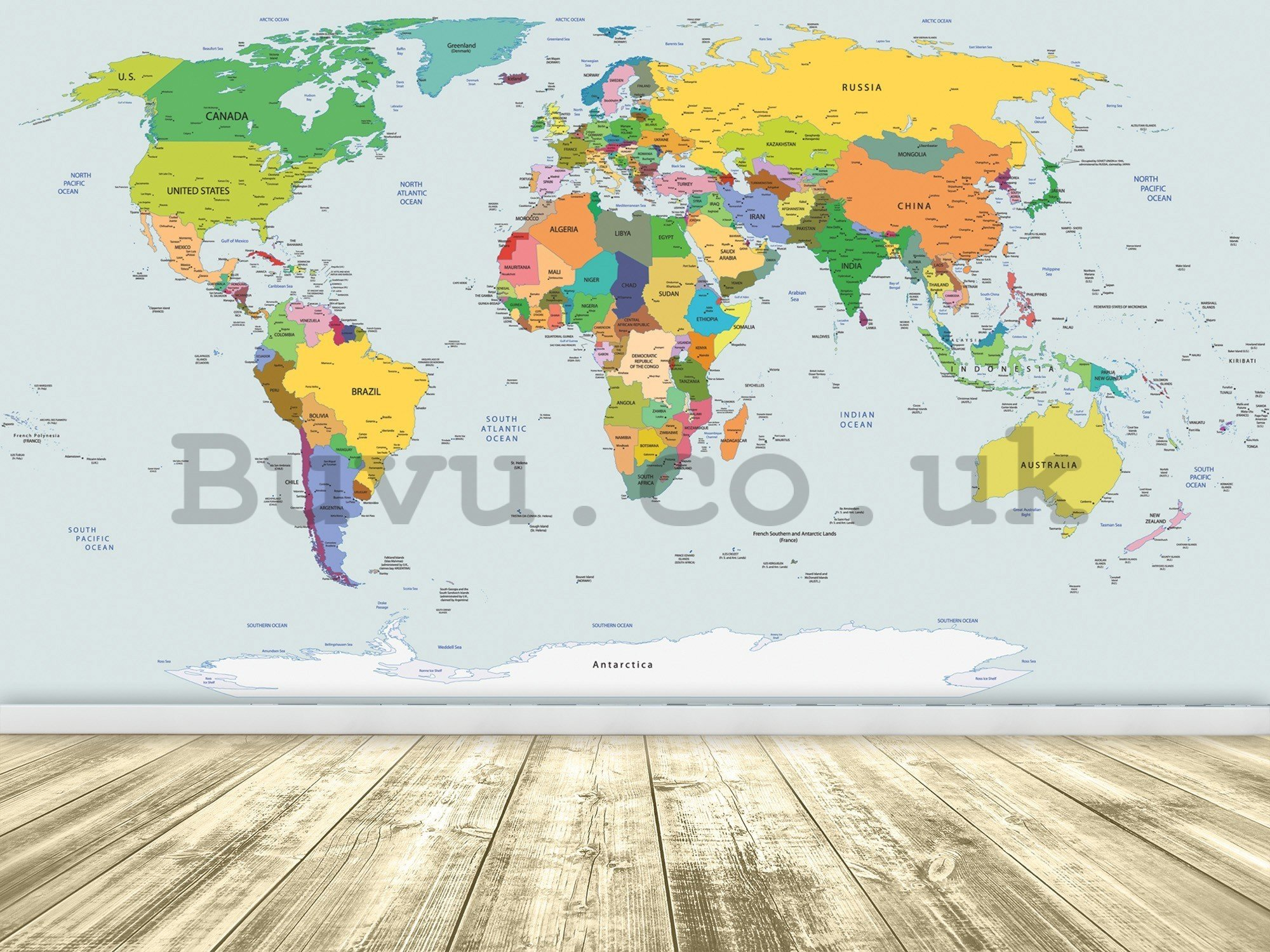 Wall mural vlies: Map of the world (2) - 416x254 cm