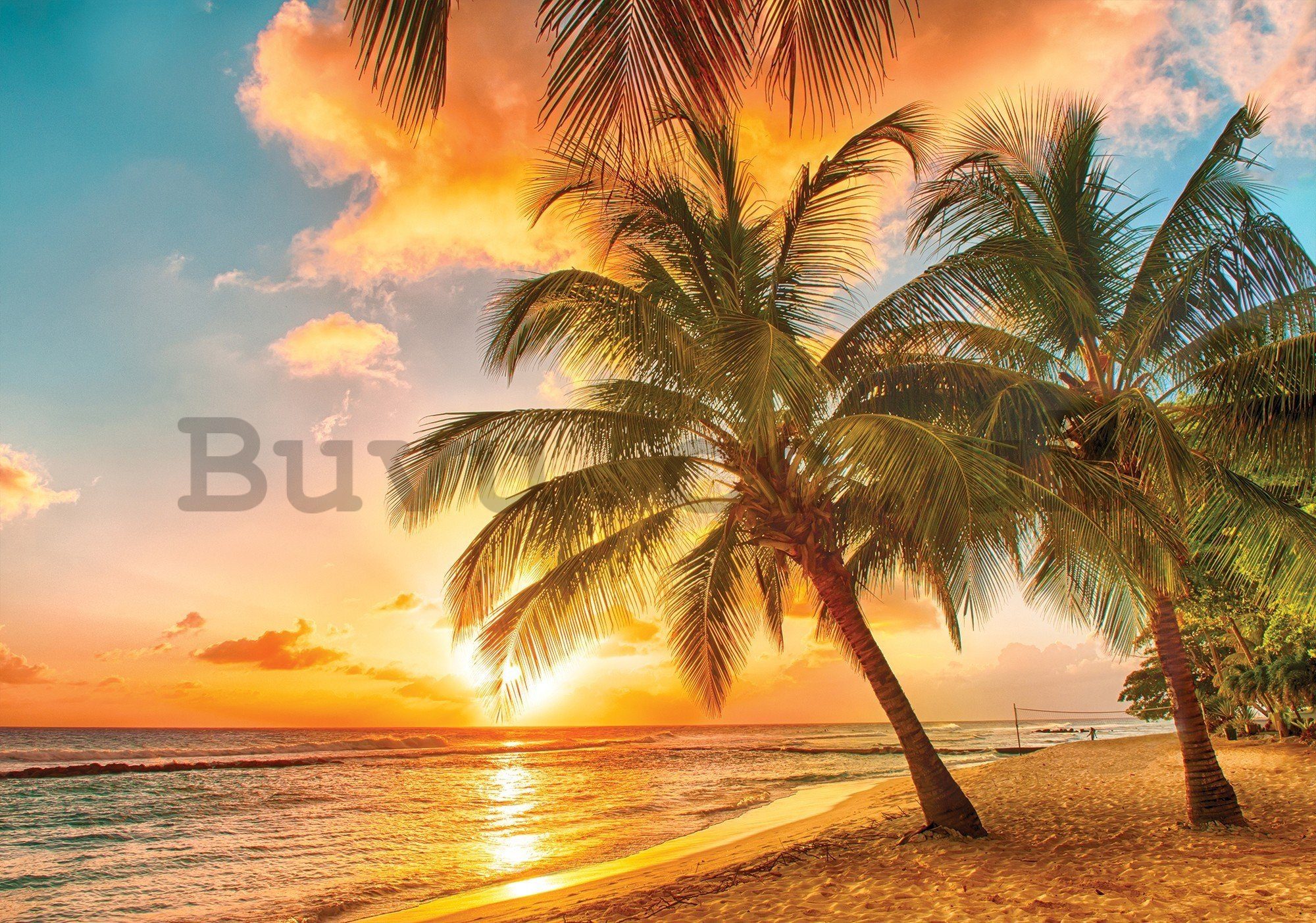 Wall mural vlies: Sunset in paradise - 416x254 cm