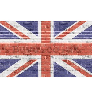 Wall mural vlies: Flag of the Great Britain (Union Jack) - 416x254 cm