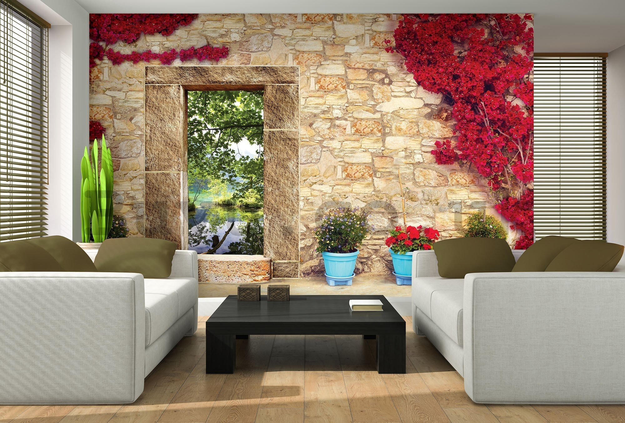 Wall mural vlies: View on nature (2) - 416x254 cm