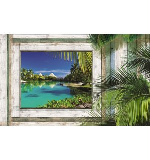 Wall mural vlies: Window to paradise (1) - 416x254 cm