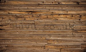 Wall mural vlies: Wooden wall - 416x254 cm