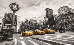 Wall Mural: New York (Taxi) - 184x254 cm