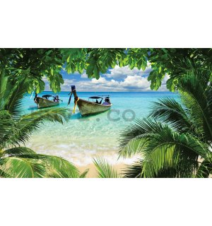 Wall mural vlies: Hawaii beach - 416x254 cm